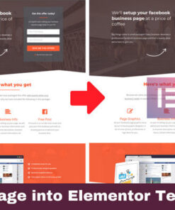 Clone any web page into elementor template- Free Elemenator Pro